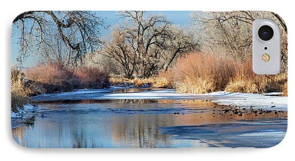 Winter River In Colorado IPhone Case by Marek Uliasz