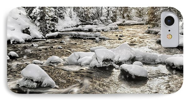 Winter River Phone Case by Leland D Howard