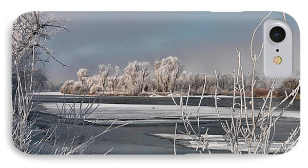Winter River Light IPhone Case by Leland D Howard