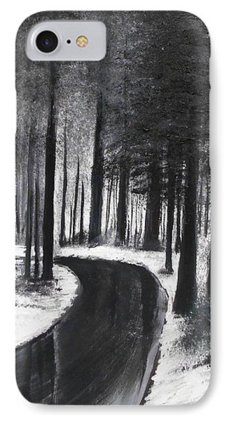 Winter Road IPhone Case