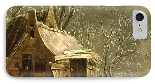Winter Scene IPhone Case by Jan Beerstraten