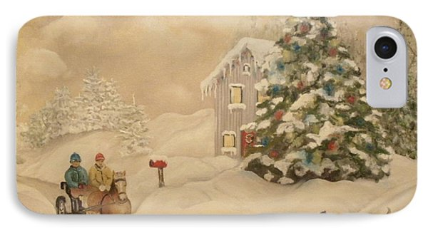 Winter Scene IPhone Case by John Stuart Webbstock