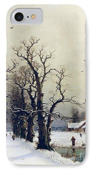 Winter Scene Phone Case by Nils Hans Christiansen