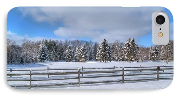 IPhone Case featuring the photograph Winter Scenery 14589 by Guy Whiteley