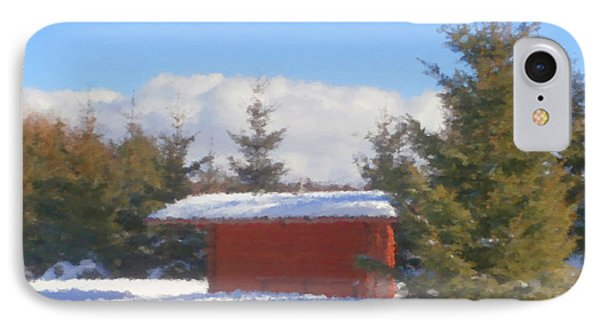 Winter Shack IPhone Case by Miroslav Nemecek