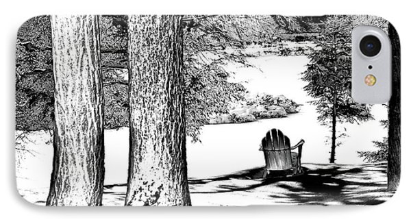 IPhone 7 Case featuring the photograph Winter Shadows by David Patterson