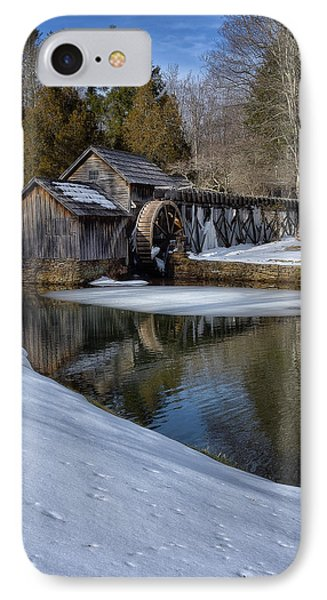 Winter Snow At Mabry Mill IPhone Case by Steve Hurt