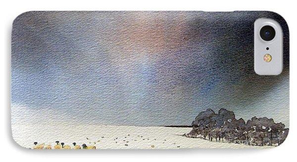 Winter Snow Swaledale Phone Case by Paul Dene Marlor