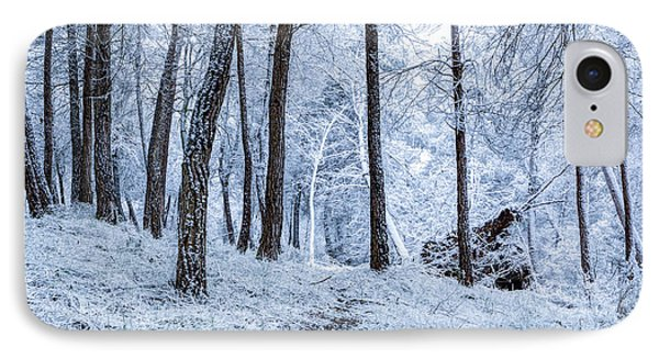 Barcelona iPhone 7 Case - Winter Snowfall by Marc Garrido