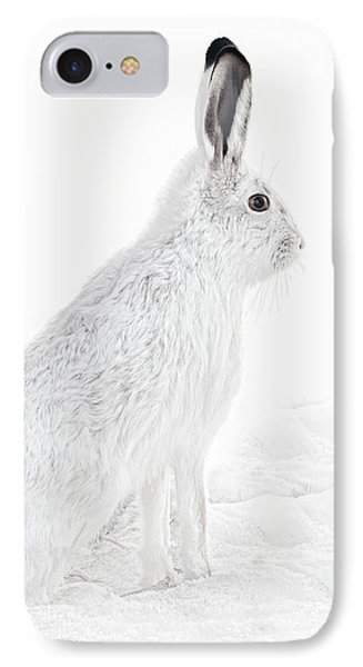 IPhone Case featuring the photograph  Winter Snowshoe Hare by Jennie Marie Schell