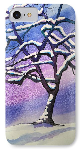 Winter Snowstorm Phone Case by Christine Camp