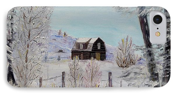 IPhone Case featuring the painting Winter Solace by Marilyn  McNish