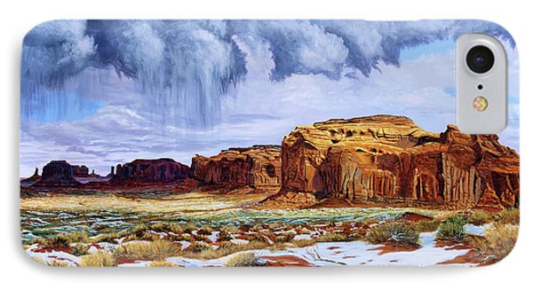 Winter Storm In Mystery Valley IPhone Case by Timithy L Gordon
