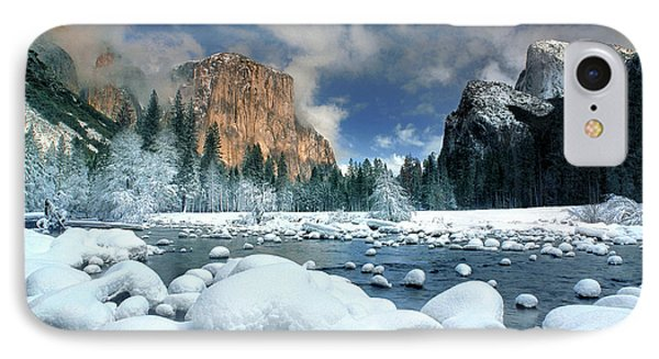 IPhone Case featuring the photograph Winter Storm In Yosemite National Park by Dave Welling