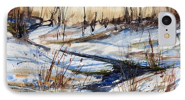 Winter Stream IPhone Case by Judith Levins