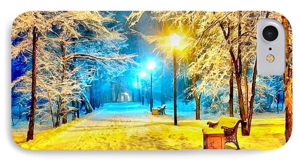 Winter Street IPhone Case by Catherine Lott