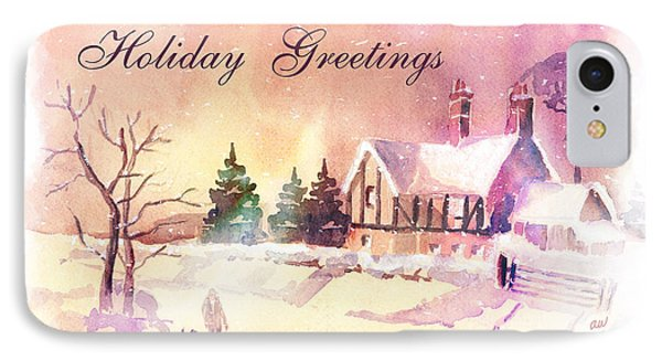 Winter Stroll Card Phone Case by Arline Wagner