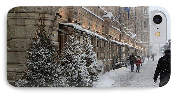 Winter Stroll In Helsinki IPhone Case by Margaret Brooks