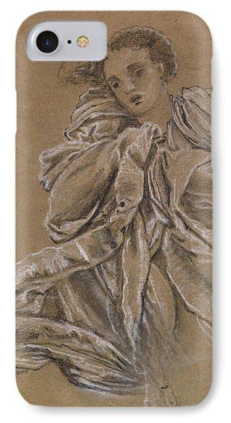 Winter Study Of Flying Drapery IPhone Case by Edward Burne-Jones