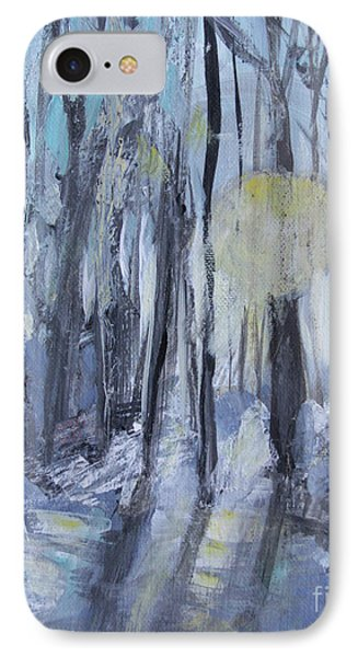 IPhone Case featuring the painting Winter Sun by Robin Maria Pedrero