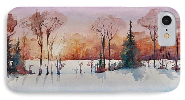 Winter Sunrise IPhone Case by Geni Gorani