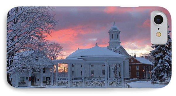 Winter Sunrise On The Common IPhone Case by John Burk