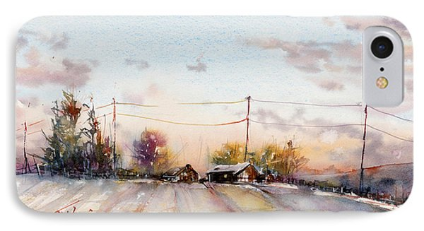 Winter Sunrise On The Lane IPhone Case by Judith Levins
