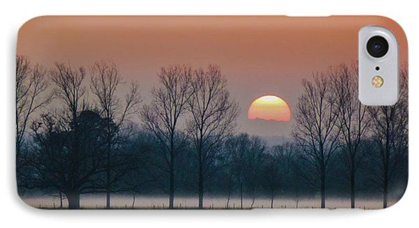Winter Sunset 1 Phone Case by Jean Bernard Roussilhe