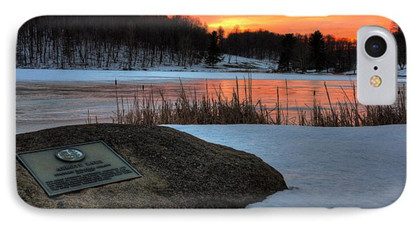 Winter Sunset Abbott Lake IPhone Case by Steve Hurt