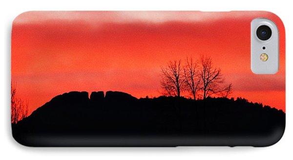 Winter Sunset At Horsetooth Rock IPhone Case