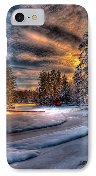 Winter Sunset IPhone Case by David Patterson