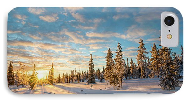 IPhone Case featuring the photograph Winter Sunset by Delphimages Photo Creations