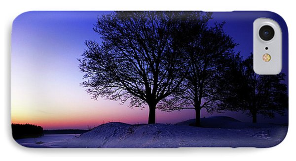Winter Sunset Phone Case by Hannes Cmarits