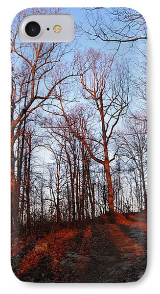 Winter Sunset In Georgia Mountains IPhone Case by Angela Murray