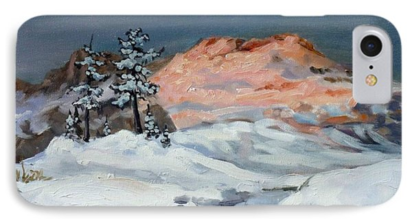 Winter Sunset In The Mountains IPhone Case