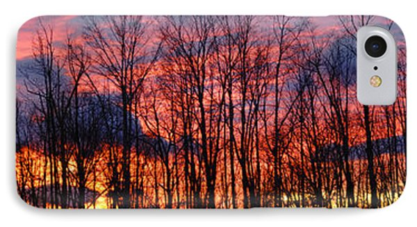 IPhone Case featuring the photograph Winter Sunset Panorama by Francesa Miller