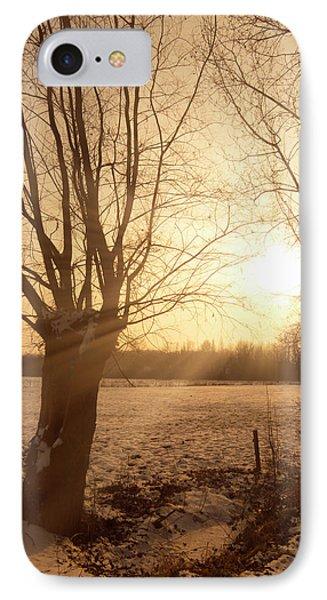 Winter Sunset Phone Case by Wim Lanclus