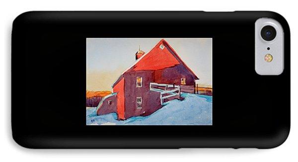 Winter Sunshine On A Barn  IPhone Case