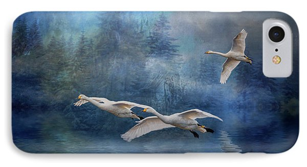 Winter Swans IPhone Case by Brian Tarr