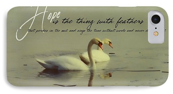 Winter Swans Quote IPhone Case