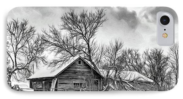 Winter Thoughts 2 - Bw IPhone Case