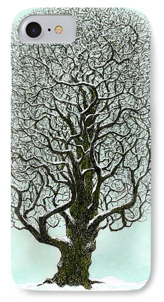 Winter Tree 2009 IPhone Case by Charles Cater