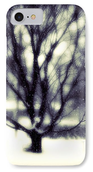 Winter Tree 3 Phone Case by Perry Webster