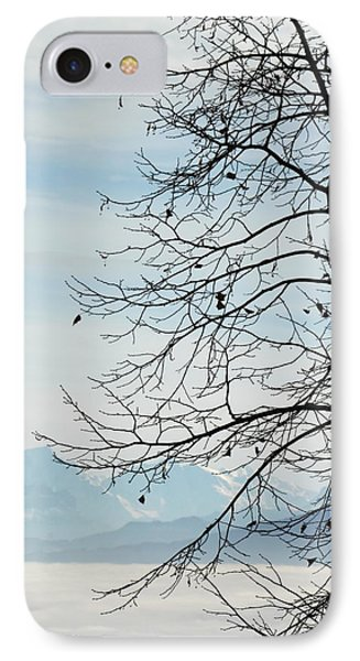 Winter Tree And Alps Mountains Upon The Fog IPhone Case