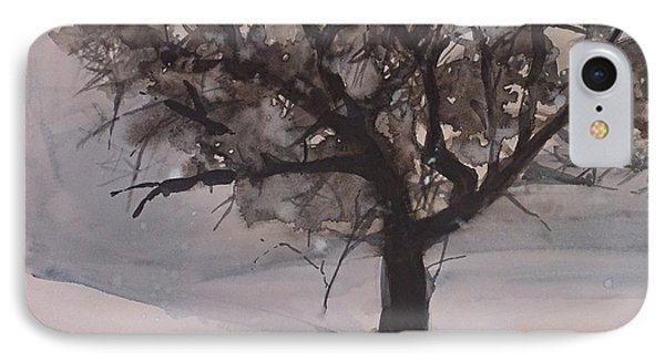 IPhone Case featuring the painting Winter Tree by Laurie Rohner