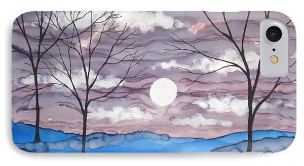 Winter Trees And Moon Landscape IPhone Case