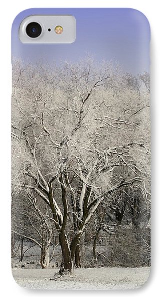 IPhone Case featuring the photograph Winter Trees by Diane Merkle