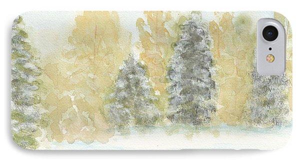 Winter Trees Phone Case by Ken Powers