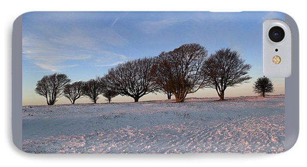 Winter Trees On The Ring IPhone Case by Hazy Apple