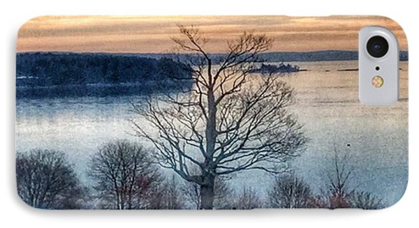 Winter Twilight At Fort Allen Park IPhone Case by Patricia E Sundik